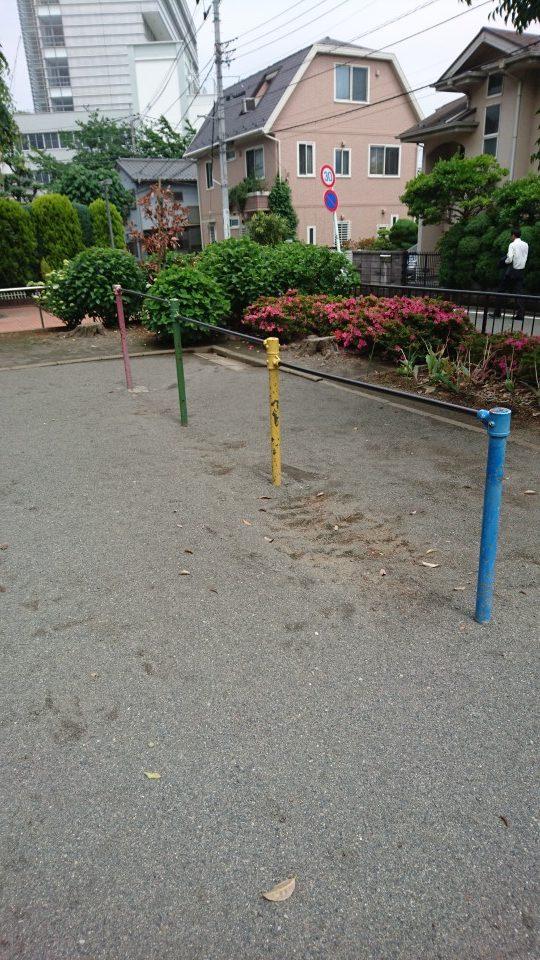 鉄棒みのわ公園八王子市遊具