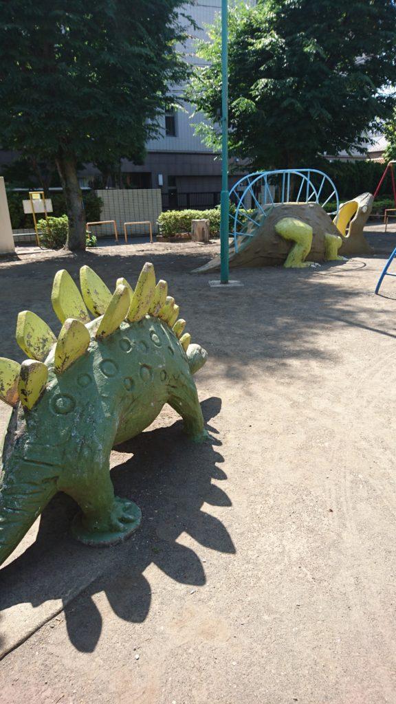 恐竜像ほんごう公園八王子市遊具