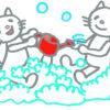 100円均一の「カプセル入りスポンジ」で【子供とお風呂で屋内遊び】
