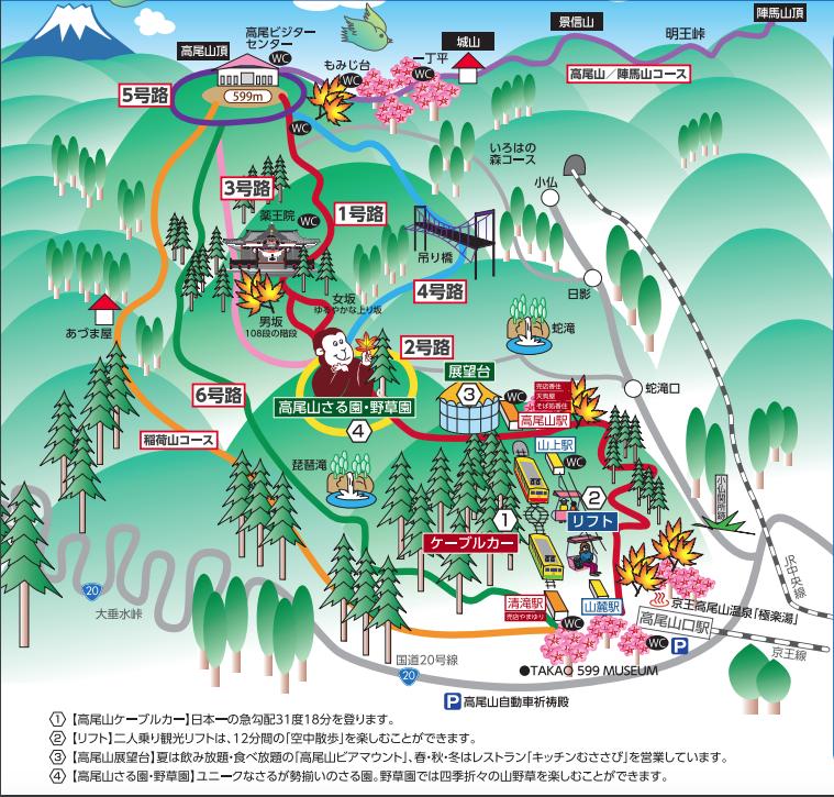 高尾山ルートマップ
