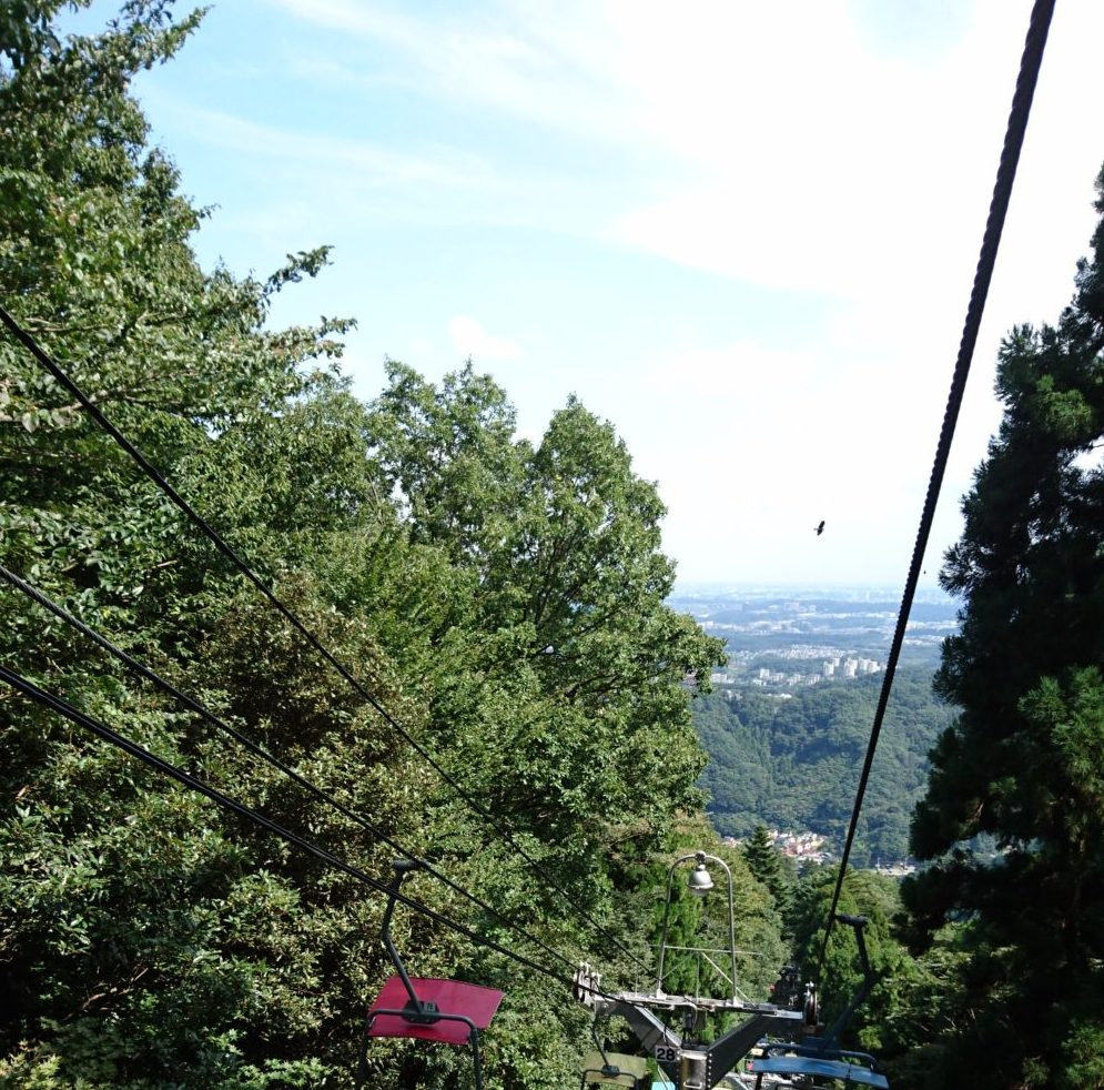 高尾山リフトからの景色