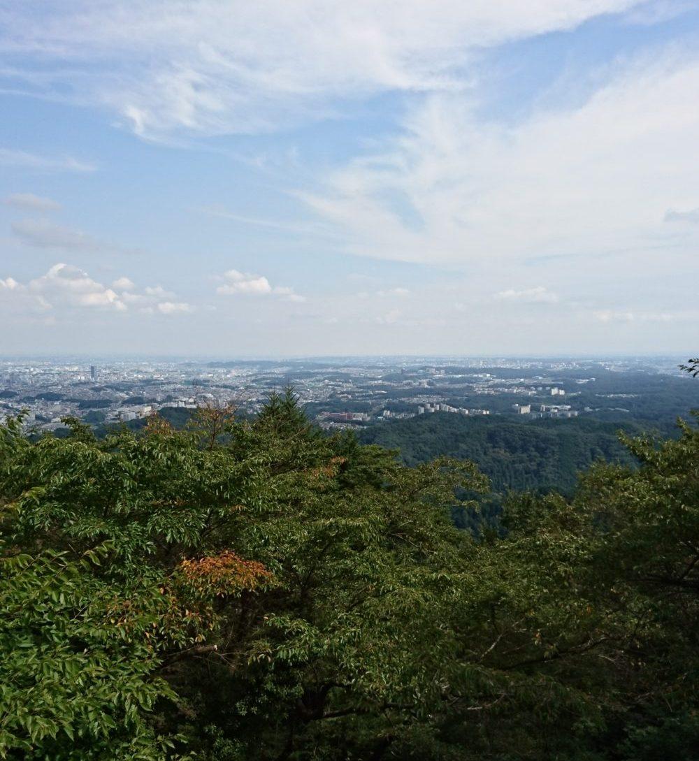 高尾山中腹の絶景