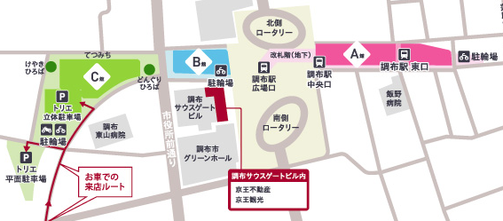 トリエ京王調布のマップ