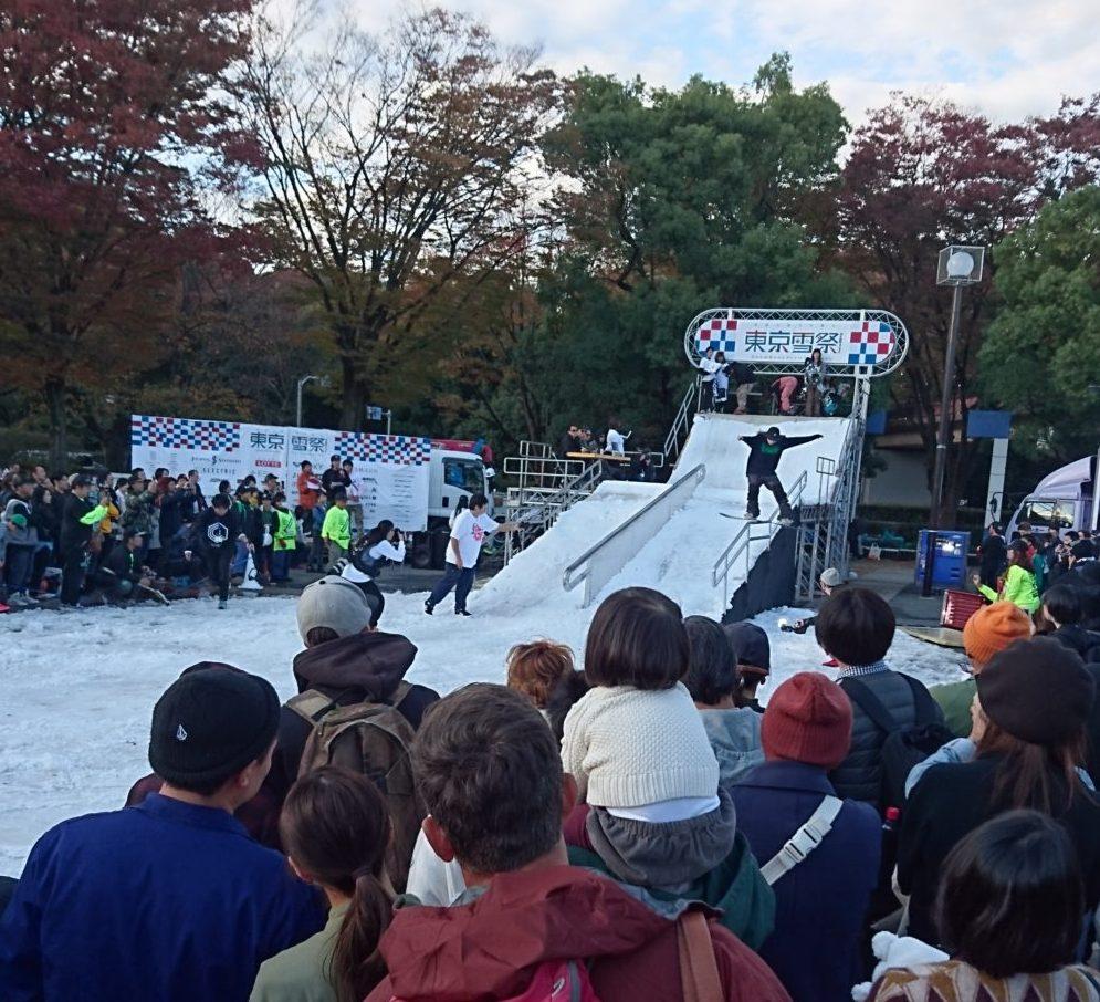東京雪祭SNOWBANKスノーボード大会