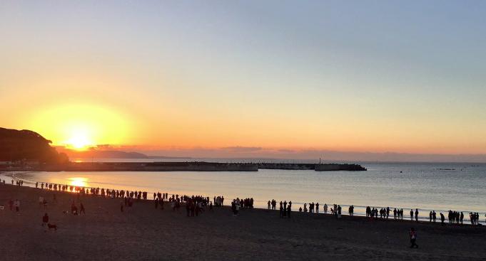 初日の出片瀬海岸東浜おすすめスポット2018