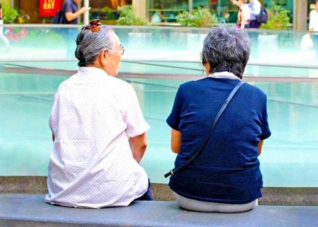 介護施設の老人たち