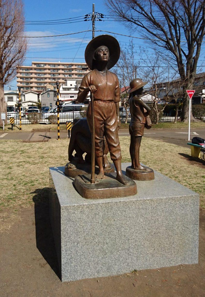 東浅川交通公園のモニュメント