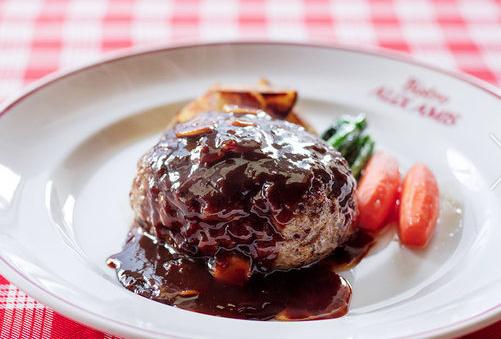 山形牛100%スペシャルジューシーハンバーグ ビストロオザミ 銀座シックスおすすめレストラン