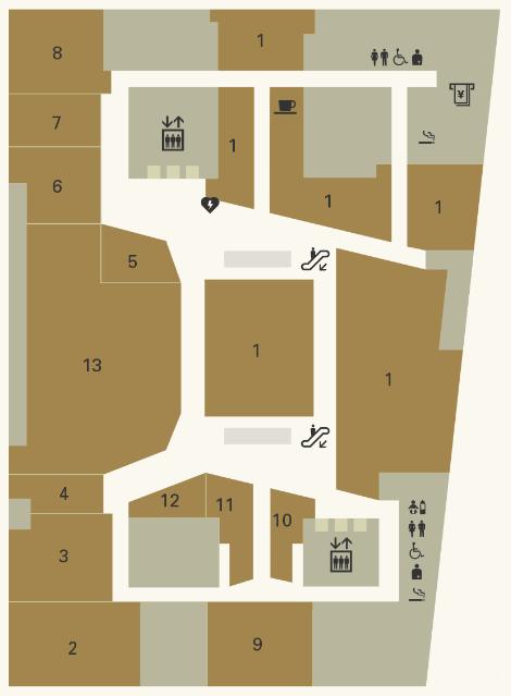 銀座シックス|6Fフロアマップ
