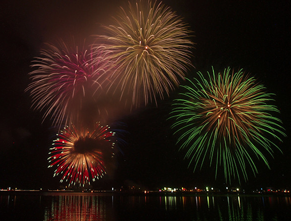 山中湖報湖祭2020 山梨県の花火大会