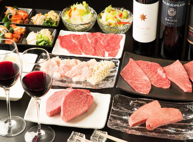 """焼肉山水 「どうせ食うなら""""うまい肉""""」コース 銀座シックスのおすすめディナー"""