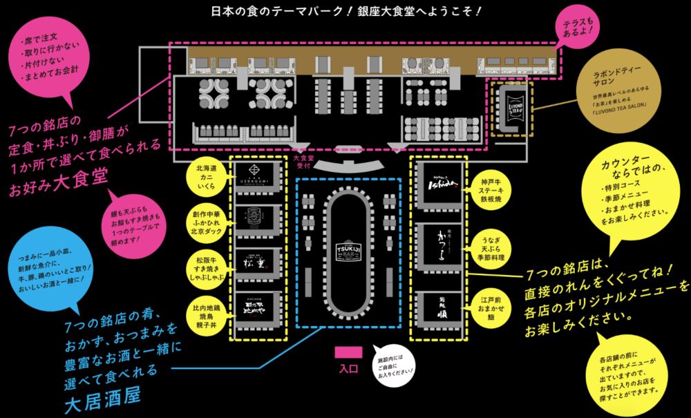 銀座大食堂 フロアマップ