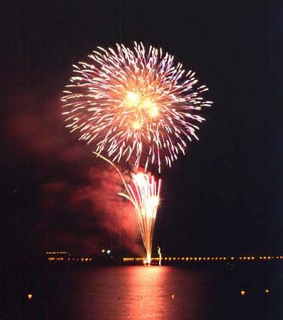西湖竜宮祭花火大会2020 山梨県の花火大会
