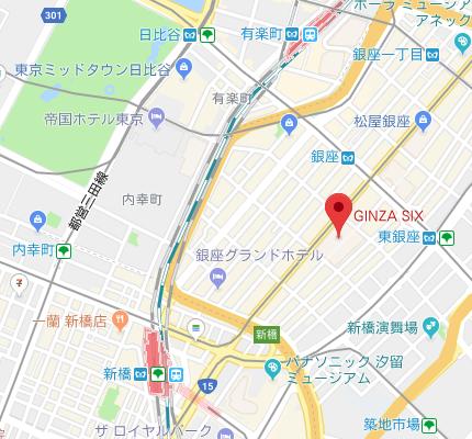 銀座シックス アクセスマップ