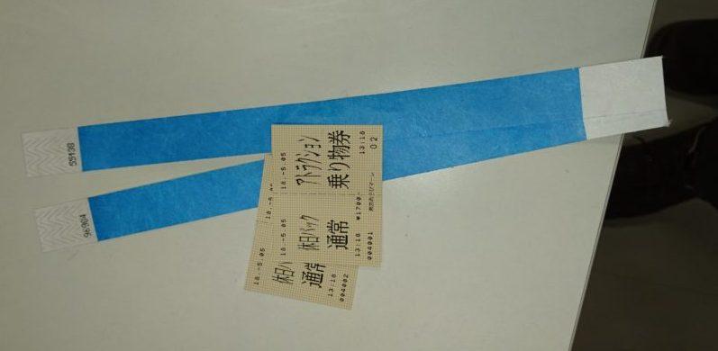 室内遊園地|東京あそびマーレチケットとリストバンド