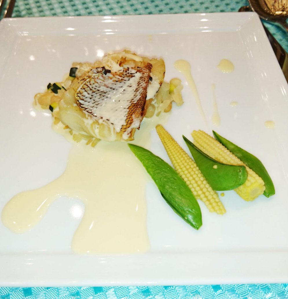 料理メニュー|カサ・デ・アンジェラ青山 カサゴのプレぜ カルナローリと白いんげん 野菜のリゾット
