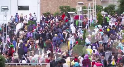 混雑 池袋ハロウィンコスプレフェス2018