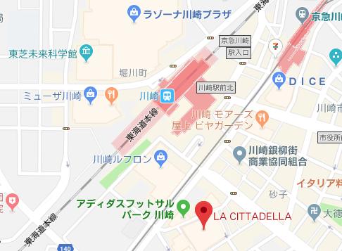 川崎ハロウィン 2018 アクセスマップ
