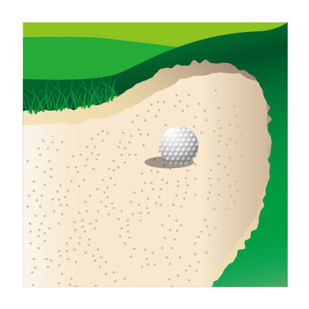 バンカー内|ゴルフの新ルール