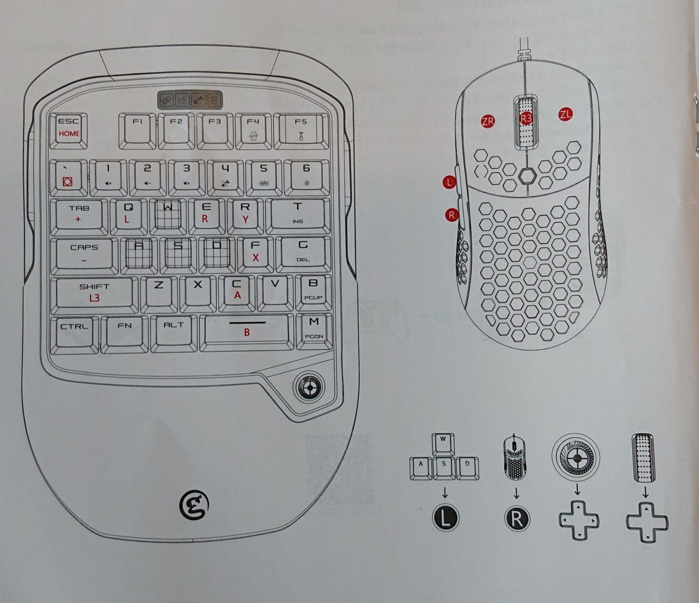 switchでの対応キー配置 GameSir VX2