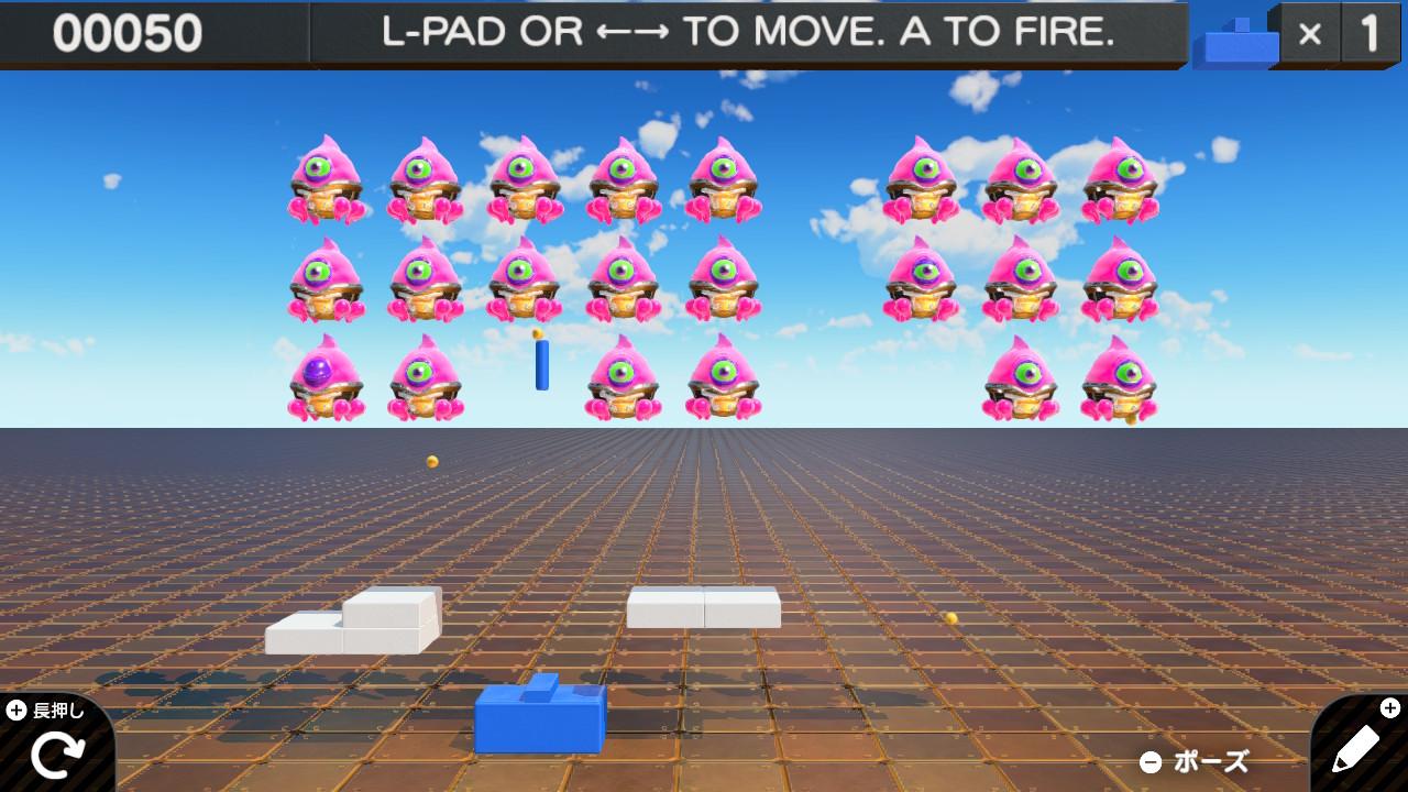 インベーダー シューティングゲーム 公開ID集 おすすめ Switchプログラミングゲーム