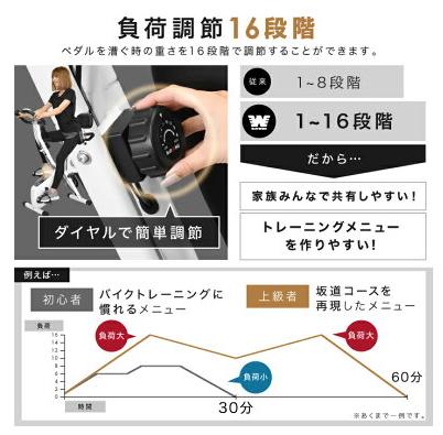 負荷レベル調節 フィットネスバイクのおすすめポイント